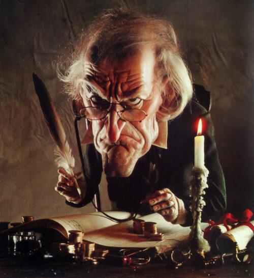 Rutte neem een voorbeeld aan Scrooge